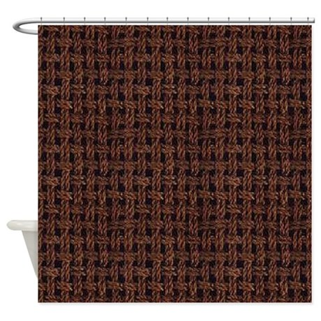 Burlap Pattern Shower Curtain By CutePrints