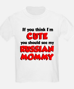 Think Im Cute Russian Mommy T-Shirt