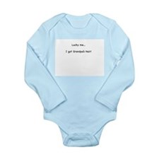 Cute Bald Long Sleeve Infant Bodysuit