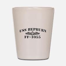 USS HEPBURN Shot Glass
