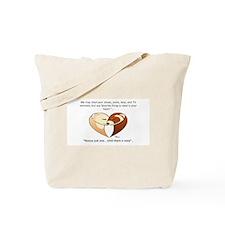 Ferret Heart Moto Tote Bag