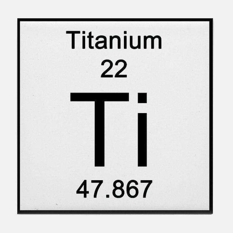 Periodic Table Titanium Coasters | Cork, Puzzle & Tile ...