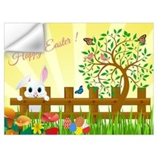 Happy Easter Bunny  Wall Decal