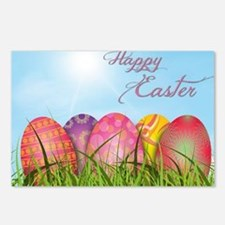 Happy Easter Decorated Eg Postcards (Package of 8)