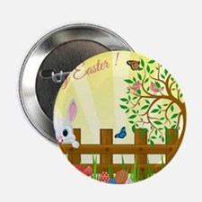 """Happy Easter Bunny  2.25"""" Button"""