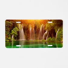Beautiful Waterfalls Aluminum License Plate