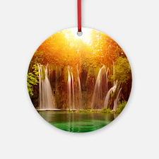 Beautiful Waterfalls Ornament (Round)