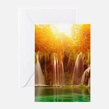 Beautiful Waterfalls Greeting Cards