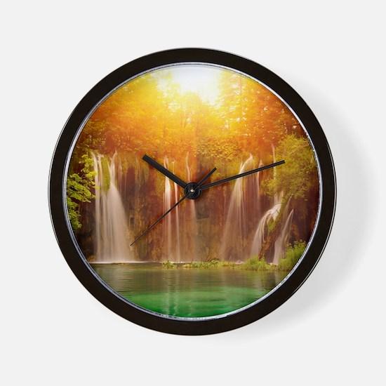 Beautiful Waterfalls Wall Clock