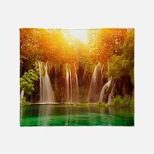 Beautiful Waterfalls Throw Blanket