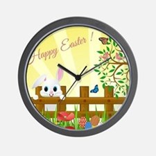 Happy Easter Bunny Wall Clock