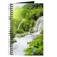 Beautiful Green Nature And Waterfall Journal