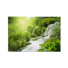 Beautiful Green Nature And Waterfall Magnets