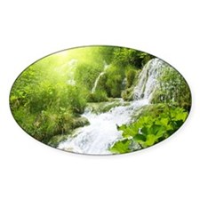 Beautiful Green Nature And Waterfall Decal