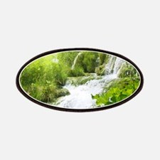 Beautiful Green Nature And Waterfall Patch