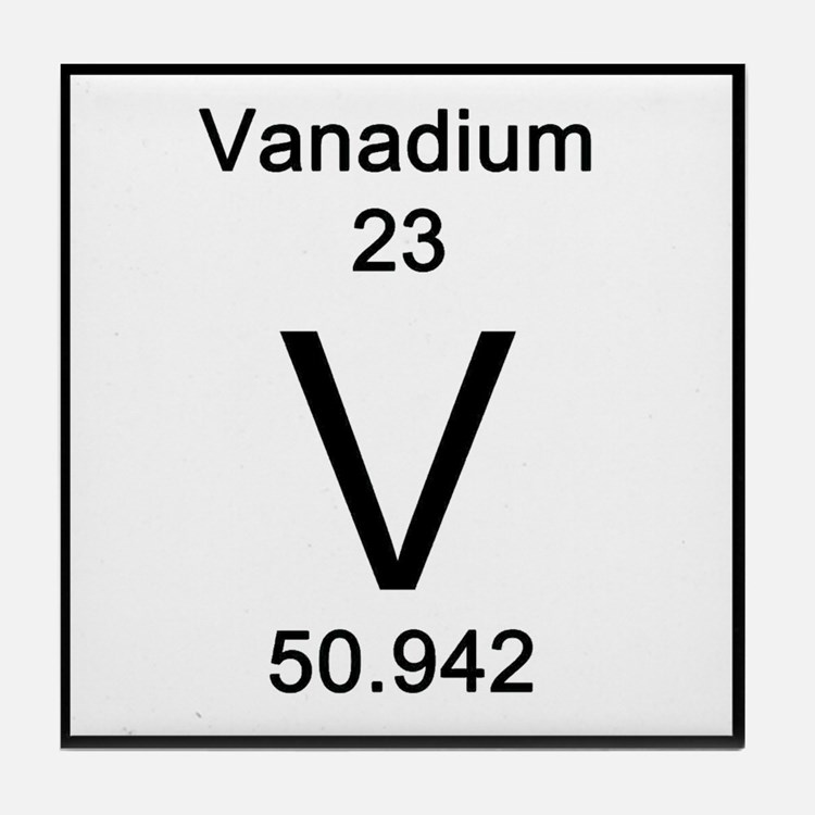 Vanadium coasters cork puzzle tile coasters cafepress - Vanadium symbol periodic table ...