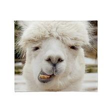 Funny Alpaca Smile Throw Blanket