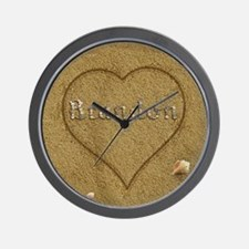 Brandon Beach Love Wall Clock