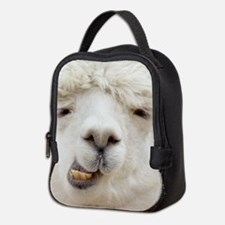 Funny Alpaca Smile Neoprene Lunch Bag