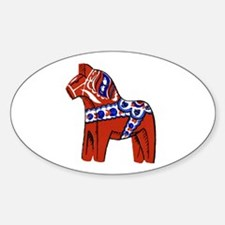 The Swedish Horse Oval Decal