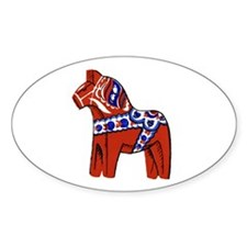 The Swedish Horse Oval Stickers