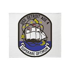 USS Detroit AOE-4 Throw Blanket