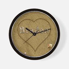 Braden Beach Love Wall Clock