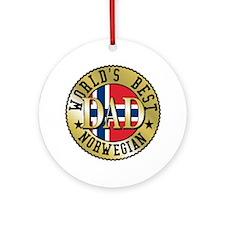 World's Best Norwegian Dad Ornament (Round)