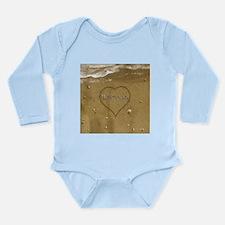 Bowman Beach Love Long Sleeve Infant Bodysuit
