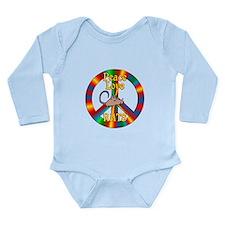 Peace Love Rats Long Sleeve Infant Bodysuit