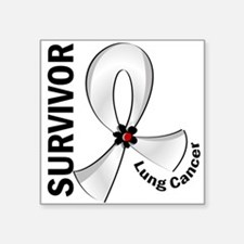 "Lung Cancer Survivor 12 Square Sticker 3"" x 3"""