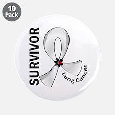 """Lung Cancer Survivor 12 3.5"""" Button (10 pack)"""