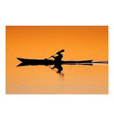 Kayak Silhouette Postcards (Package of 8)