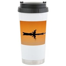 Kayak Silhouette Travel Mug