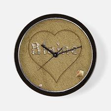 Blaine Beach Love Wall Clock