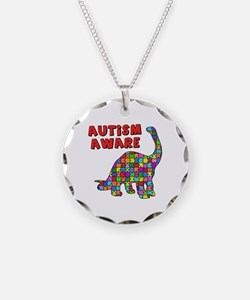 Autism Aware Dinosaur Necklace
