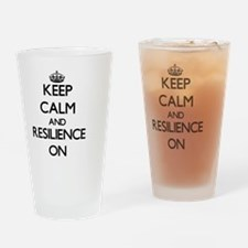 Keep Calm and Resilience ON Drinking Glass