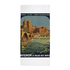 Avignon, France Vintage Poster Beach Towel
