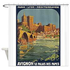 Avignon, France Vintage Poster Shower Curtain