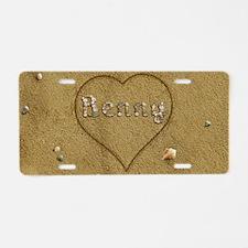 Benny Beach Love Aluminum License Plate