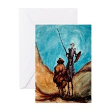 Funny Chasing windmills Greeting Card