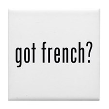 got french? Tile Coaster