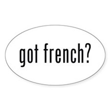 got french? Oval Stickers