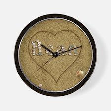 Bean Beach Love Wall Clock