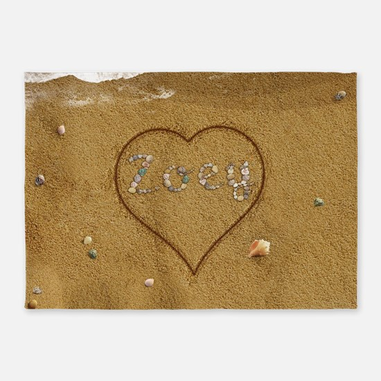 Barry Beach Love 5'x7'Area Rug