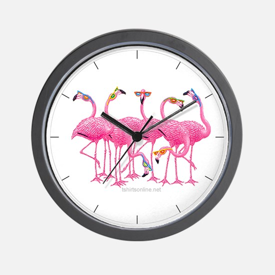 Cool Flamingoes Wall Clock