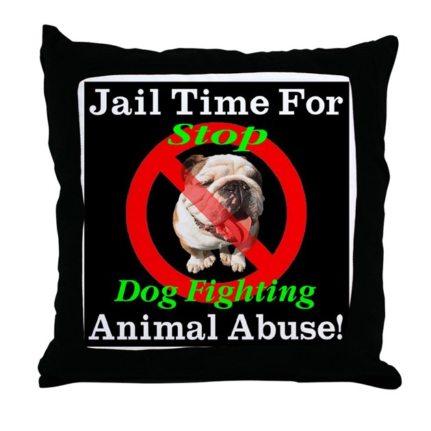Down Pillows Animal Cruelty : Jail Time For Animal Abuse Throw Pillow by bytelandart