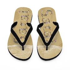 Sarai Seashells Flip Flops