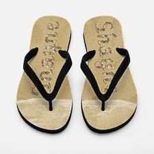 Shayne Seashells Flip Flops