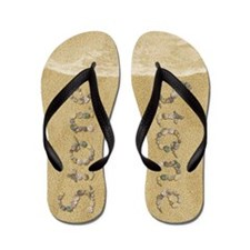 Stone Seashells Flip Flops